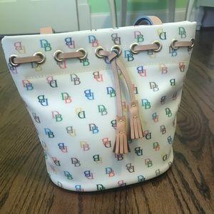 ✨Dooney & Bourke✨Rainbow Monogram Bucket Bag